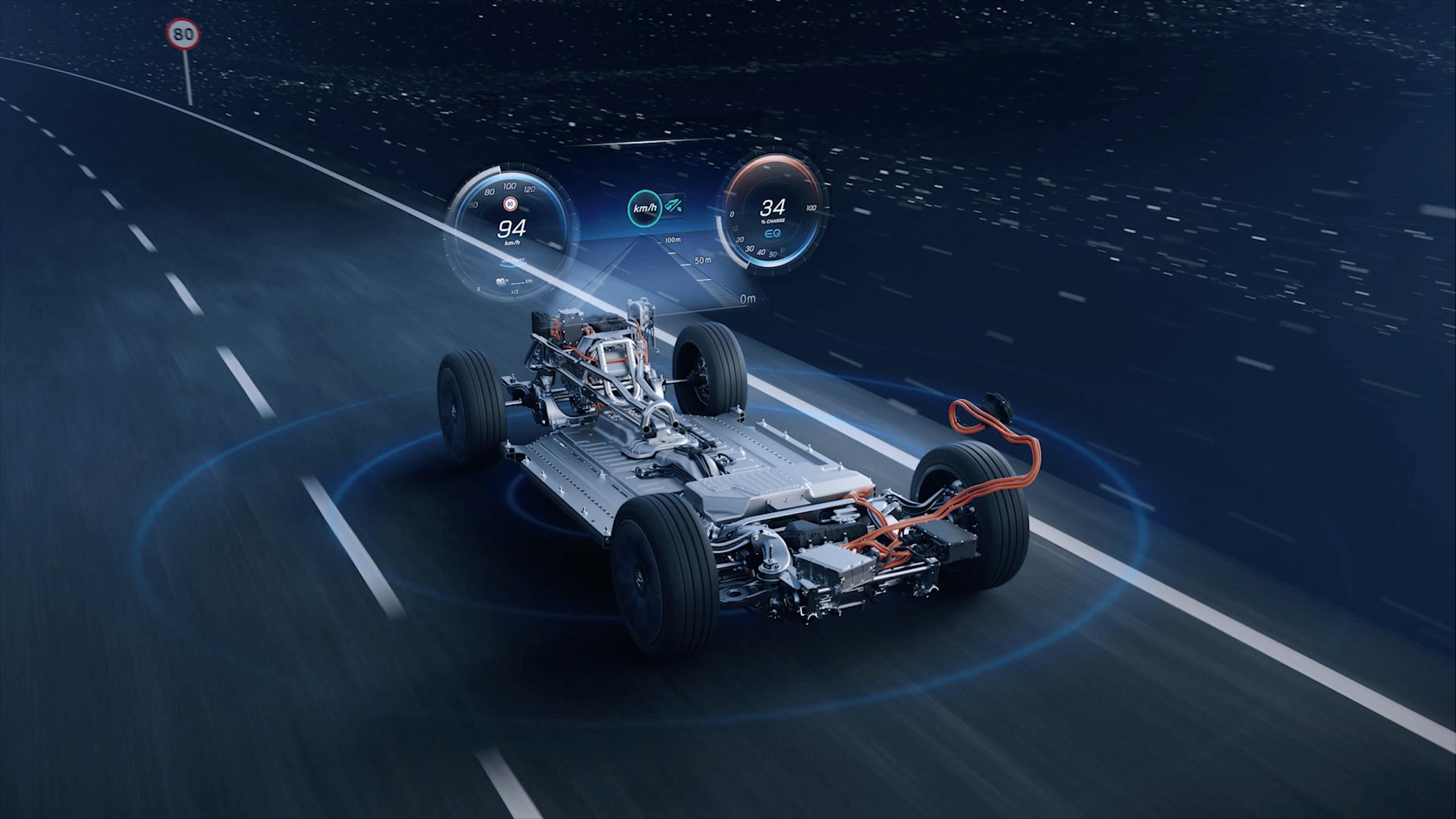 Motor und Antrieb EQC